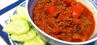 Minced-Pork-in-Red-Curry-paste