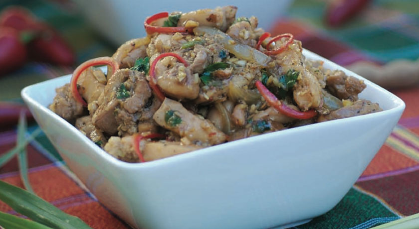 Chicken Stir-Fry with Lemongrass, Tamarind and Chilies